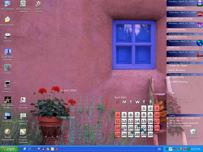 Calendar Reminder Wallpaper : Active desktop calendar customizable pim on your